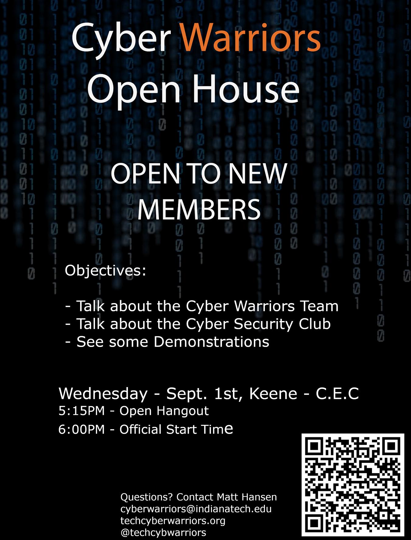 Cyber Warriors Open House 2021